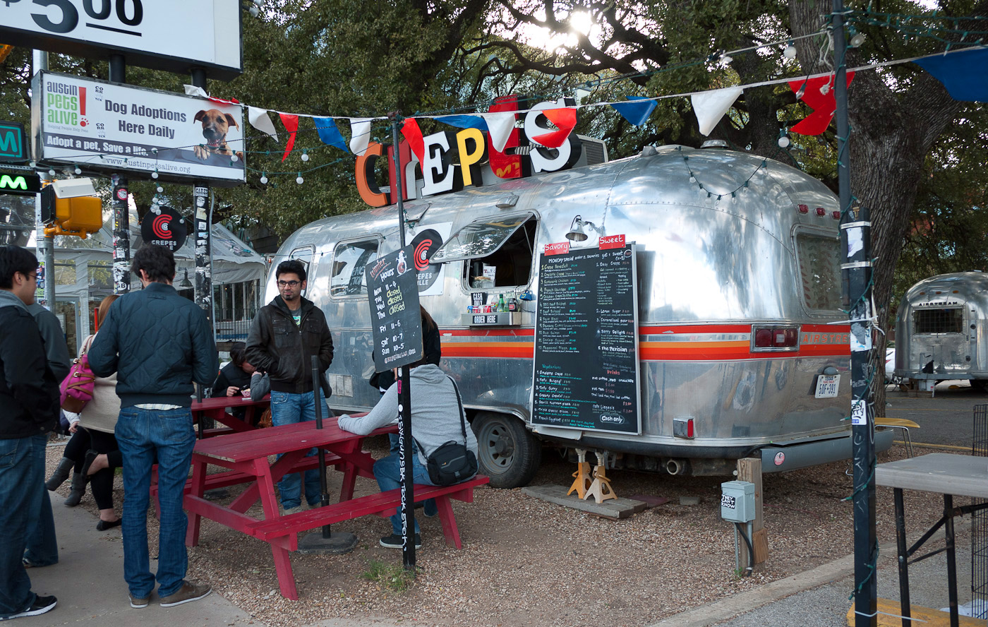 Austin Airstream Food Truck Scene Diet For A Tiny House