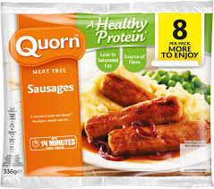 Quorn micoprotein sausages