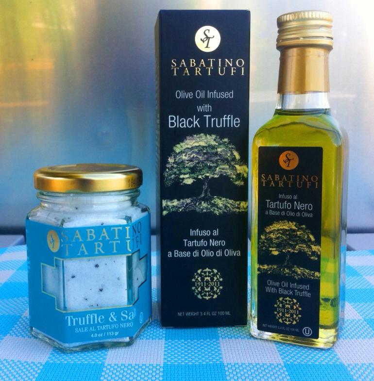 Sabatino Tartufi Truffles & Salt and Olive Oil Infused with Black Truffles